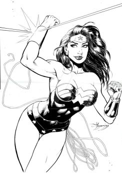 COMMISSION WONDER WOMAN by amorimcomicart