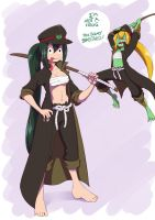 commission - Tsuyu and nectophry by dragonmanX