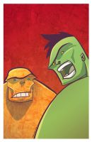 Hulk and Thing by marespro13