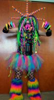 Rainbow cybergoth raver outfit - 1 by German-Blood