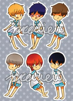 Free! STICKER SHEET FOR SALE by Usato