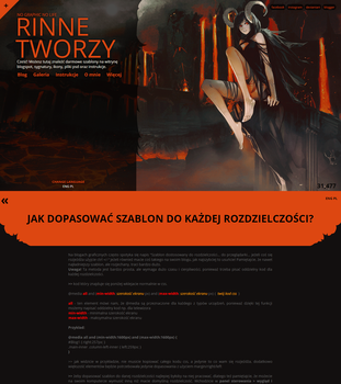 Fire demon blogspot template by Rinne-lasair
