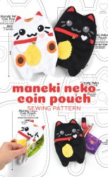 Maneki Neko Coin Pouch Sewing Pattern by SewDesuNe