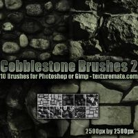 Cobblestone Brushes 2 by AscendedArts