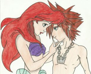 Ariel And Sora In Love by Draculsondevil
