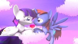 Love is in the air (comm) by Okimichan