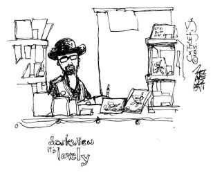Sketch of Darkview Stall at Sunderland Comic Con by m99art