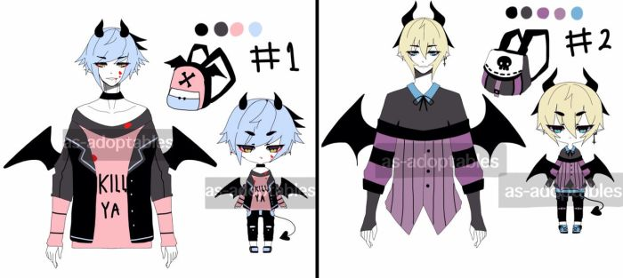 vampire demon adoptable batch open 1/2 by AS-Adoptables