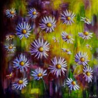 Blue Asters by ErynLuin