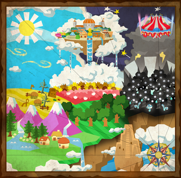 Paper Mario: CoHC - Halcyon Kingdom Map by The-PaperNES-Guy