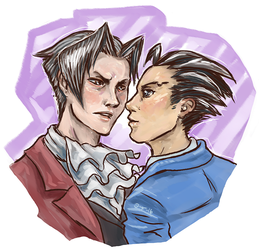 Edgeworth and Phoenix by shivikai