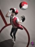 Trainer Red by AHowDraws