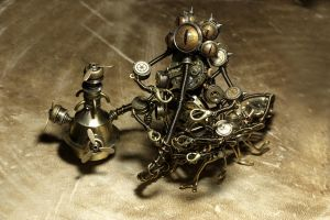 Steampunk Alice Caterpillar 2 by CatherinetteRings