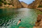 Naked Swimming at the Canyon by bonnyartcom