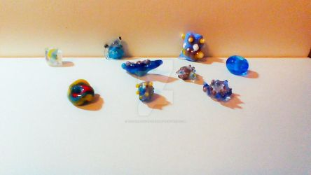 nautical glass beads by TotallyUnspoken