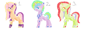#5 Adoptables - Fillydephia Ponies[EDIT] by AdaKola