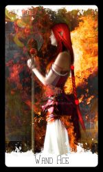 Rising Age Tarot: Wand Ace by iamtequila