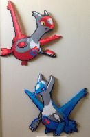 Latios and Latias perler
