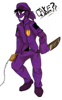 T-A-S-T-E--T-H-E--C-A-K-E - FNAF - Purple Guy by Choco-Floof