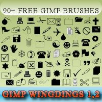90+ Wingding Gimp Brushes by njsitebuilder