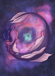 Space Mermaid by flailingmuse