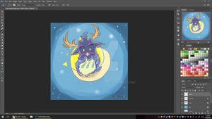 WoW: Chibi Tarta Druid Moonkin Form -preview- by mscherbear