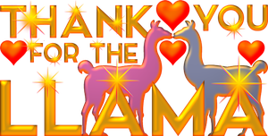 Thank you for the llama golden 1 by EXOstock