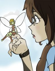 Ellie discovers a fairy by Jax-81