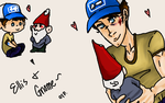 L4D2: Ellis and his Gnome by Chibi-15