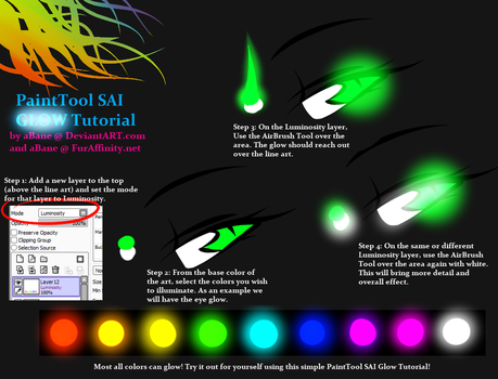 PaintTool SAI GLOW Tutorial by aBane