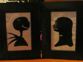 Jack and Sally silhouette by ShannonB86