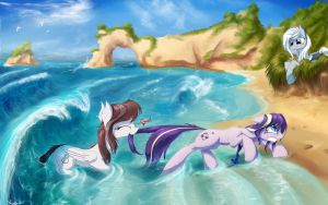 'Oh come on, the water isn't THAT bad!!' by AurelleahEverfree