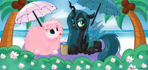 Chrysalis and Fluffie Puff (ChrysiPuff) by Molochko-Persik