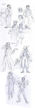 Some fullmetal sketches by montiray