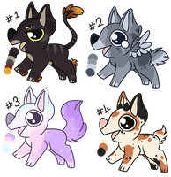 Pup Batch Adopts (0/4) by partybug98