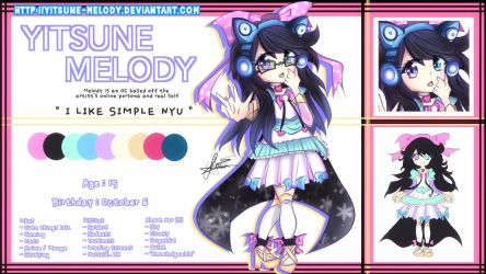 Yitsune Melody | Reference Sheet by Yitsune-Melody