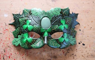 Green Man leather mask by ShadowFoxLeatherwork