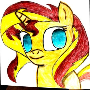 Sunset Shimmer Sketch (colored version) by SuperHyperSonic2000