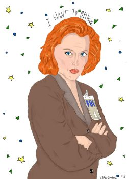 I WANT TO BELIEVE  - SCULLY by LovegoodTardis
