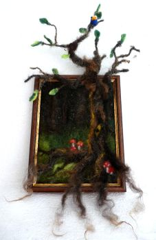 Felted tree 2.0 by Ulltotten