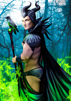 MALE ficent by theartofrichie