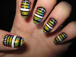 Stripy nails by ColorPixie