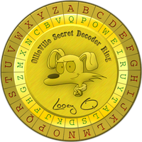 The Official Ollieville Secret Decoder Ring by LooeyQ