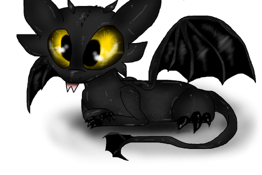 Little Toothless by PlagueDogs123