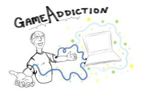 Game Addiction by unanimatedew