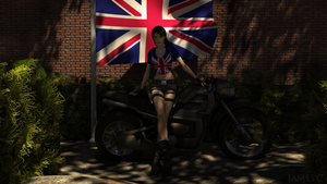 Lara Croft Union Jack by James--C
