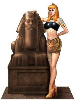 Lisa Walks like an Egyptian by ArtbroSean