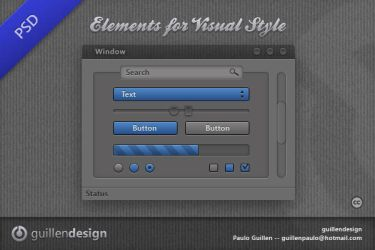 ELEMENTS  .PSD Files by GuillenDesign