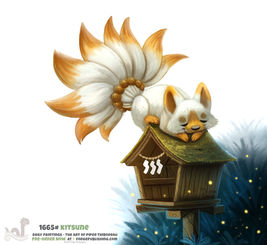 Daily Painting 1665# - Kitsune by Cryptid-Creations