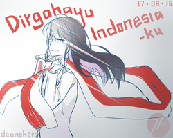 Happy Independence Day, Indonesia! by DeanaHere